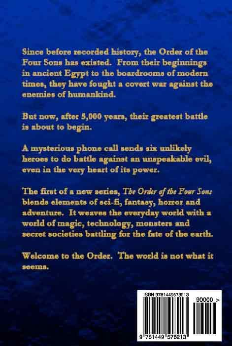The Order of the Four Sons, Book I (back cover)