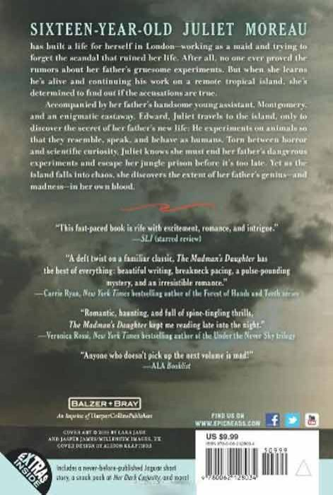 The Madman's Daughter (Madman's Daughter - Trilogy) (back cover)