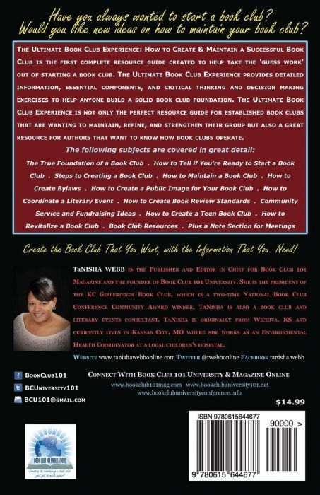 The Ultimate Book Club Experience: How to Create & Maintain a Successful Book Club (back cover)