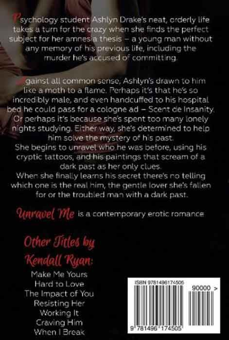 Unravel Me (back cover)