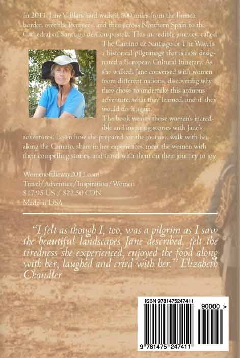 Women of the Way: Embracing the Camino (back cover)