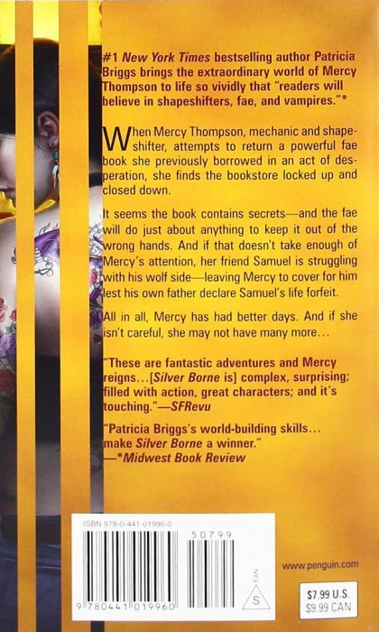 Silver Borne (Mercy Thompson #5) (back cover)