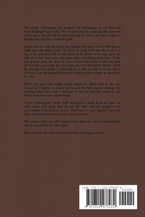 Orbbelgguren Series Book X The Troll Wars (back cover)