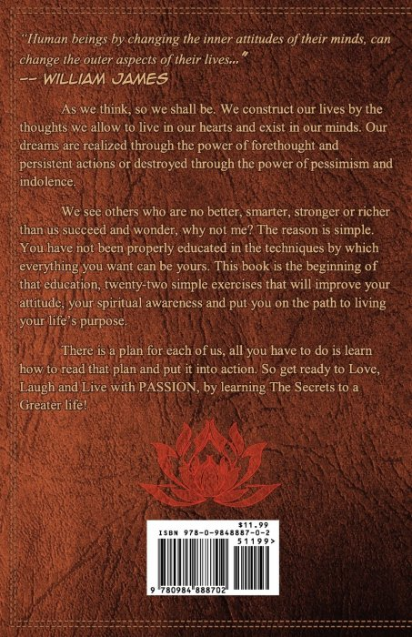 Add Media: Love, Laugh and Live with Passion: Secrets to a Greater life (back cover)