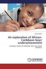 An exploration of African-Caribbean boys (cover)